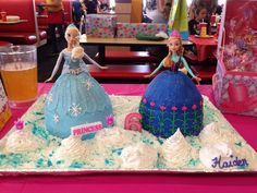 Disney Frozen doll cake