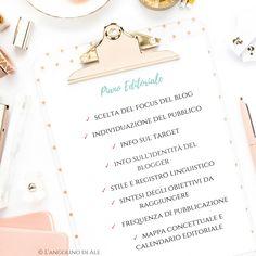 Come costruire un Piano Editoriale per il Blog  #pianoeditoriale #editorial #blogging #bloggerlife #blogger #web #skills
