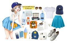 """You Watanabe [Love Live! Sunshine!]"" by spinescent ❤ liked on Polyvore featuring Polo Ralph Lauren, adidas, RE/DONE, Linda Farrow, Case Scenario, Miss Selfridge, Fuji, Kate Spade, Davines and Shinola"