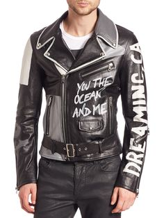 d78dc3b248 Image result for graffiti leather jacket