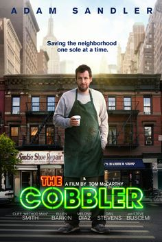 "The Cobbler Movie Poster - Adam Sandler, Cliff ""Method Man"" Smith, Ellen Barkin…"
