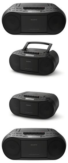 Portable Stereos Boomboxes: Cassette And Cd Player Stereo System Boombox Combo Am Fm Portable Recorder Radio BUY IT NOW ONLY: $98.75