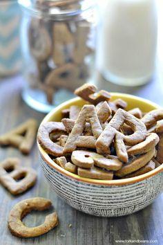 Cinnamon ABC Crackers (gluten-free vegan) - Fork & Beans