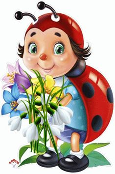 Solve Cute ladybug jigsaw puzzle online with 117 pieces Images Gif, Gif Pictures, Free Images, Cartoon Memes, Cartoon Art, Lady Bug, Bisous Gif, Funny Emoticons, Smileys