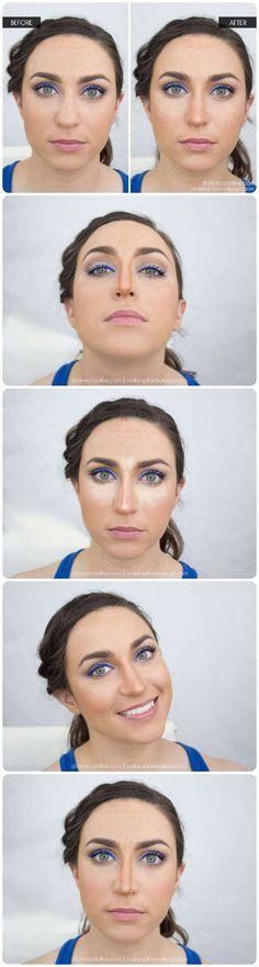 Como lograr afinar la nariz sin cirugías acá van algunos trucos de maquillaje que pueden ayudarte