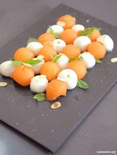 Pinterest cuisine : billes de melon et mozzarella