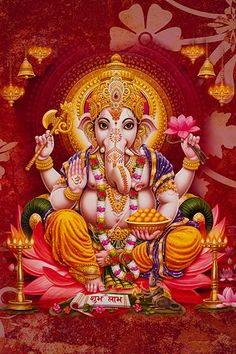Ads Art Poster Wall decorative and Personalise Greeting cards Shiva Art, Ganesha Art, Lord Ganesha, Hindu Art, Jai Ganesh, Shree Ganesh, Jai Hanuman, Ganesha Pictures, Ganesh Images