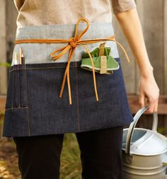 garden to table utility apron {Mill Valley designer, Molly de Vries of Ambatalia}