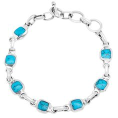 @Overstock - Handcrafted Mexican Alpaca Silver and Turquoise Cube Bracelet (Mexico) - Add a graceful touch to your look with this alpaca silver link bracelet. Set with inlaid turquoise cube stones, this handcrafted Mexican bracelet is certain to attract attention. A toggle clasp ensures this beautiful piece is always secure.   http://www.overstock.com/Worldstock-Fair-Trade/Handcrafted-Mexican-Alpaca-Silver-and-Turquoise-Cube-Bracelet-Mexico/7539162/product.html?CID=214117 COP…