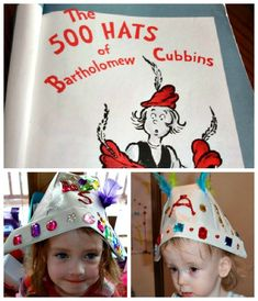 500 Hats of Bartholomew Cubbins by Dr. Suess... I just requested the book from the local library, will put loads of hats in a bucket, and have fun w the kids.