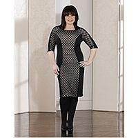 Coleen Nolan Illusion Dress - Large Size Clothing and Maternity Wear - www.plussizedglamour.co.uk