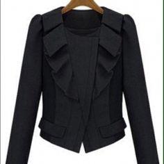 "Selling this ""Black Blazer"" in my Poshmark closet! My username is: uniquediscount. #shopmycloset #poshmark #fashion #shopping #style #forsale #Jackets & Blazers"
