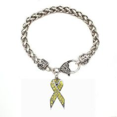 1 Carat Yellow Awareness Ribbon Bracelet - a sterling silver bracelet. I want!!!