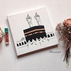 Arabic Calligraphy Art, Arabic Art, Pencil Art Drawings, Art Drawings Sketches, Ramadan Decoration, Small Canvas Art, Islamic Paintings, Islamic Wall Art, Islamic Wallpaper