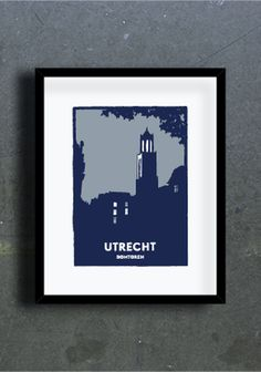 Graphic Illustration, Illustrations, Utrecht, Netherlands, Screen Printing, Van, Frame, Creative, Prints