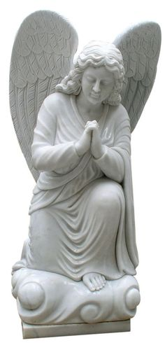 This is a beautifully carved Angel of Intercession Statue. Comes in five sizes: 2′, 3′, 4′, 5′, and 6′. Standard material is Gray Granite.