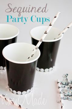Sequined Party Cups