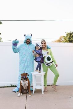 This list has all of the best family Halloween costumes. They work with baby, with toddler, and with kids. These costumes work well for 3 people, for 4 people, for 5 people, and more. These ideas are scary, funny, cute, unique, easy, and DIY. Some of the costumes include Peter Pan, circus, Toy Story, Mario Kart, Star Wars, superheroes, Hocus Pocus, Wizard of Oz, Harry Potter, The Incredibles, and other Disney costumes. Monsters Inc Halloween Costumes, Monster Inc Costumes, Cute Halloween Costumes, Zombie Costumes, Halloween Couples, Halloween Ideas, Boo Monsters Inc Costume, Pregnant Couple Halloween Costumes, Circus Family Costume