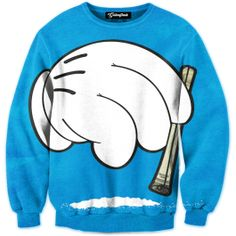 Getonfleek™ presents the cartoonish Coke Endorsement crewneck that blurs the line between cocaine and Mickey Mouse. This Disney inspired design features a rolled dollar bill, a gloved hand and a powdery line of coke. Sniff up the chalky residue and let the drug invigorate you like Scar Face. The crewneck is a shout-out to the white stuff that keeps the parties interesting and the partiers up all night. Grab your fat stack and get snorting.