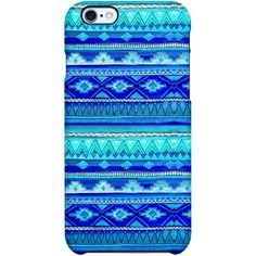 Uncommon Mirage iPhone 6 TS Deflector Case (€26) ❤ liked on Polyvore featuring accessories, tech accessories, phone cases, phone, electronics, case and blue