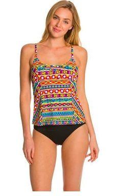 2017b0e6e46 NWT $170 Trina Turk Peruvian Stripe Black OTS Tankini Swimsuit 2pc Set  Women's