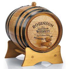 Personalized Mini Oak Whiskey Barrel $65