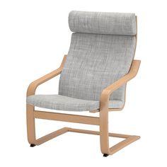 POÄNG Fauteuil IKEA Gelaagd en vormgebogen beuken biedt een comfortabele vering. De hoge rugleuning geeft een goede ondersteuning van de nek.