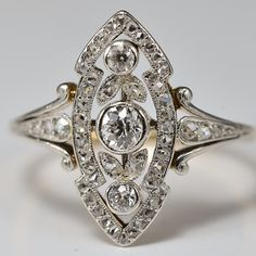 Antique Victorian diamond marquise shaped engagement ring/ anniversary ring Gemstone sourcing and tech requirements for business owners Engagement Ring Shapes, Beautiful Engagement Rings, Antique Engagement Rings, Antique Rings, Or Antique, Antique Jewelry, Vintage Jewelry, Art Deco Ring, Art Deco Jewelry
