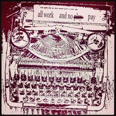#Cream #cranberry #colors #typewriter #graphicdesign