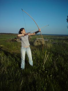 Me shooting - Longbow made by Ivar Malde