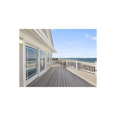 Exquisite New Home with Private Beach ❤ liked on Polyvore featuring backgrounds, rooms, photos, pictures and building