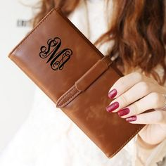Leather Wallet Personalized Womens Wallet Monogrammed by paperonly