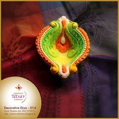 Diwali Diya, Diwali Craft, Rangoli Designs Diwali, Diwali Festival, Newspaper Crafts, Diwali Decorations, Stone Painting, Birthday Candles, Paper Art