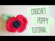 Crochet Poppy and Leaf pattern - Bella Coco by Sarah-Jayne