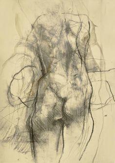 "Saatchi Art Artist: Ute Rathmann; Charcoal 2000 Drawing ""Nude XI"""