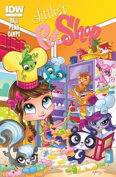 Littlest Pet Shop #1 (of 5)—SPOTLIGHT Georgia Ball (w) • Nico Peña, Antonio Campo (a) • Peña (c) The Littlest Pet Shopopens for business at IDW! Russell and Penny Ling have a puzzle for their friends to solve, and the race for clues will send them all over Downtown City. Only one team can claim the prize, but is there room for so many big personalities on one moped? FC • 32 pages • $3.99