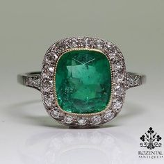 rubies.work/… 0163-ruby-rings/ 0010-ruby/ Antique Art Deco Platinum Diamond