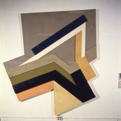 Frank Stella, Lunna Wola II (Polish village # 29), 1973, felt, coloured canvas, paper,homosote, cardboard, 107 x 97 inches
