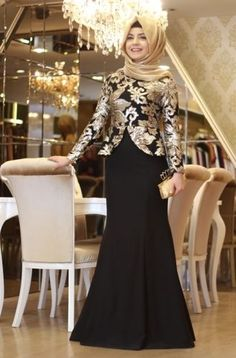 Pınar Şems Saraylı Abiye - Siyah