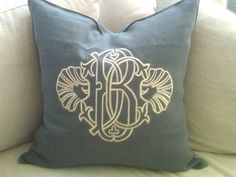 Love the shells for a coastal accent. Visit paperladyonline.com or drop by our store for more custom monogram info!