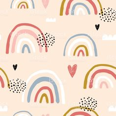 Cute Backgrounds, Cute Wallpapers, Wallpaper Backgrounds, Iphone Wallpaper, Rainbow Wallpaper, Retro Wallpaper, Pattern Wallpaper, Head In The Clouds, Artsy Background