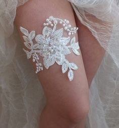 free ship ivory lace garter bridal garter by ByMiracleBridal