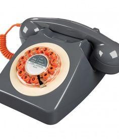 retro house phone grey