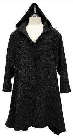 AKH Fashion Lagenlook Kapuzenjacke in schwarz XXL Mode bei www.modeolymp.lafeo.de