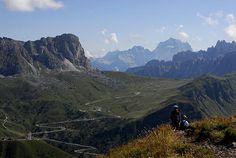 salita al monte Pore da Fedare, strada del passo Giau, Colle Santa Lucia