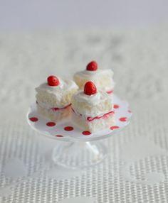 Miniature Strawberry Shortcake Squares