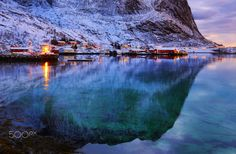 """A silent sunrise in Lofoten - Lofoten is the singular highlight of all of Norway .The drive across Lofoten has spectacular view after spectaculat view. Here it was an early morning driving and very calm just before sunrise ,at one of the many fjord vistas ..Please     <a href=""""https://www.facebook.com/YiannisPavlis4"""">Visit me on Facebook!</a>..."""