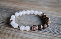Buddha bracelet stackable yoga bracelet mala by IskraCreations
