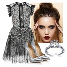 """Untitled #195"" by perlahak on Polyvore featuring Elie Saab and Casadei"
