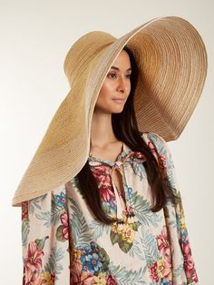 Click here to buy Lola Hats Extra-wide brim raffia hat at MATCHESFASHION.COM